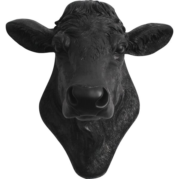 The Bessie Cow Head Wall Décor by White Faux Taxidermy