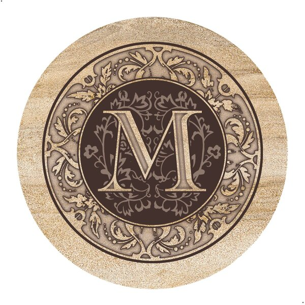 Monogram Coaster (Set of 4) by Fleur De Lis Living