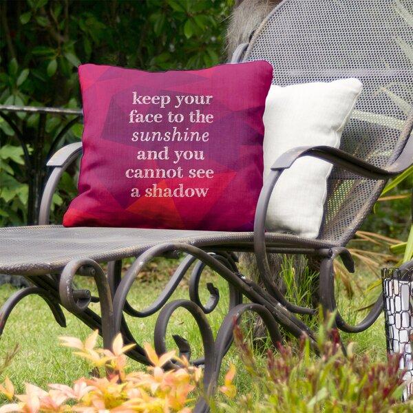 Optimism Inspirational Indoor/Outdoor Throw Pillow