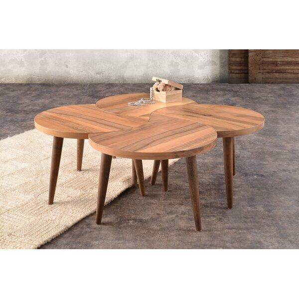 Ramiro Wood Coffee Table by Corrigan Studio