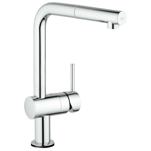 Minta Single Handle Kitchen Faucet with Side Spray and SilkMove® by Grohe