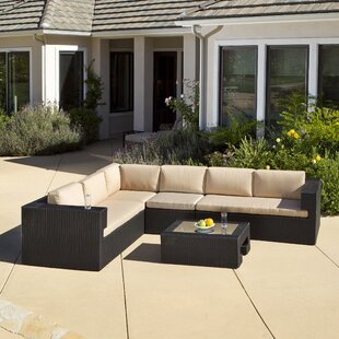 Quinn 5 Piece Sunbrella Sectional Set with Cushions By Home Loft Concepts