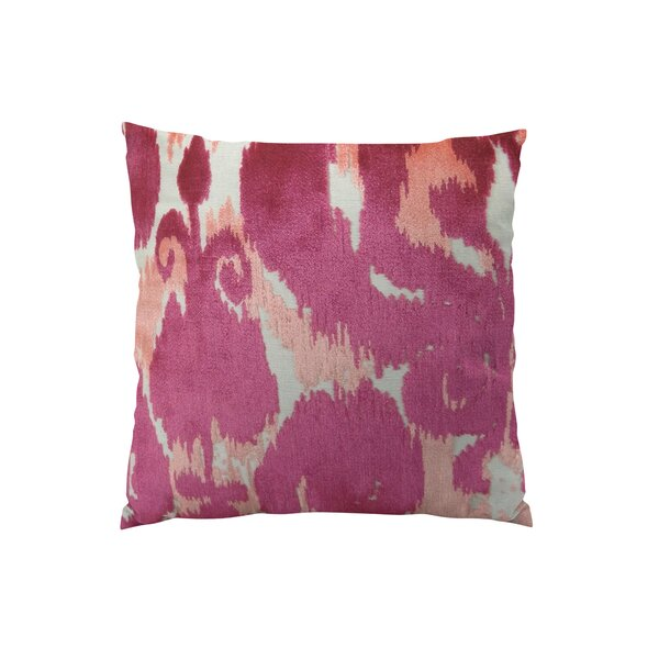 Velvet Bliss Coral Handmade Throw Pillow by Plutus Brands