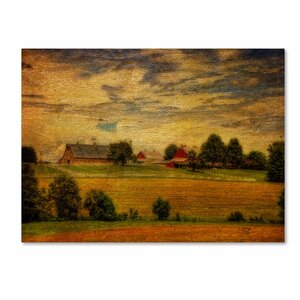 Summer Farm by Lois Bryan Photographic Print on Wrapped Canvas by Trademark Fine Art