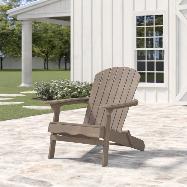 Ridgeline Solid Solid Wood Folding Adirondack Chair By Birch Lane™ Heritage