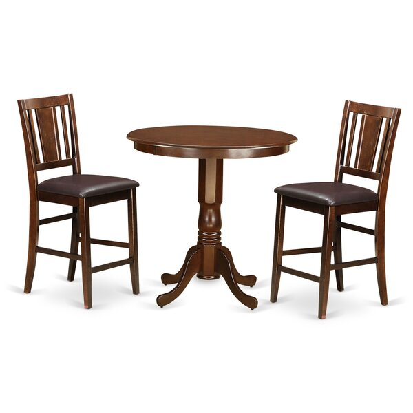 Best #1 Jackson 3 Piece Counter Height Pub Table Set By Wooden Importers Read Reviews