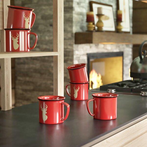 Chevron Deer Coffee Mug (Set of 6) by Loon Peak