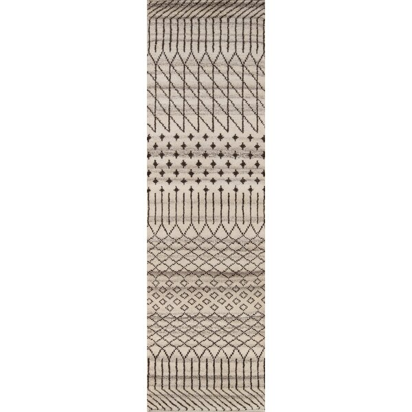 Dante Hand-Woven Gray/Cream Area Rug by Mistana