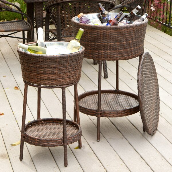 Ernestine 2 Piece Wicker Bucket Set by Beachcrest Home