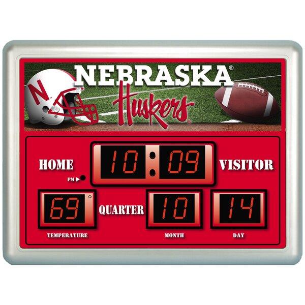 U of Nebraska Scoreboard Wall Clock by Evergreen Enterprises, Inc
