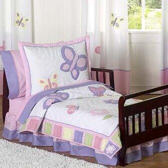 Butterfly 5 Piece Toddler Bedding Set by Sweet Jojo Designs