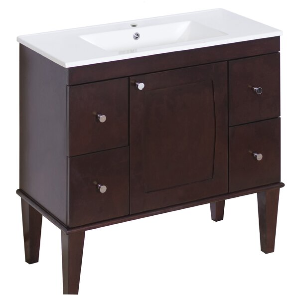 Latshaw Floor Mount 35.5 Single Bathroom Vanity Set by Alcott Hill