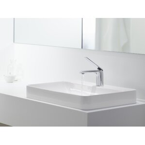 Great Vox Rectangular Vessel Bathroom Sink With Overflow