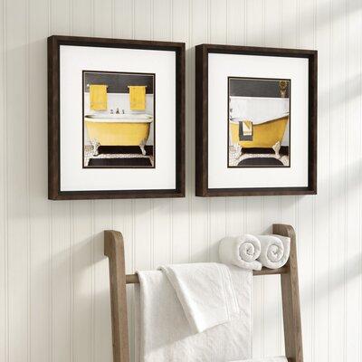 Citron Bath Framed Graphic Art Set