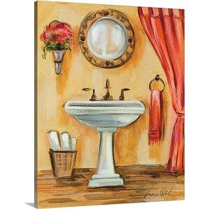 'Tuscan Bath IV' by Silvia Vassileva Painting Print on Canvas by Canvas On Demand