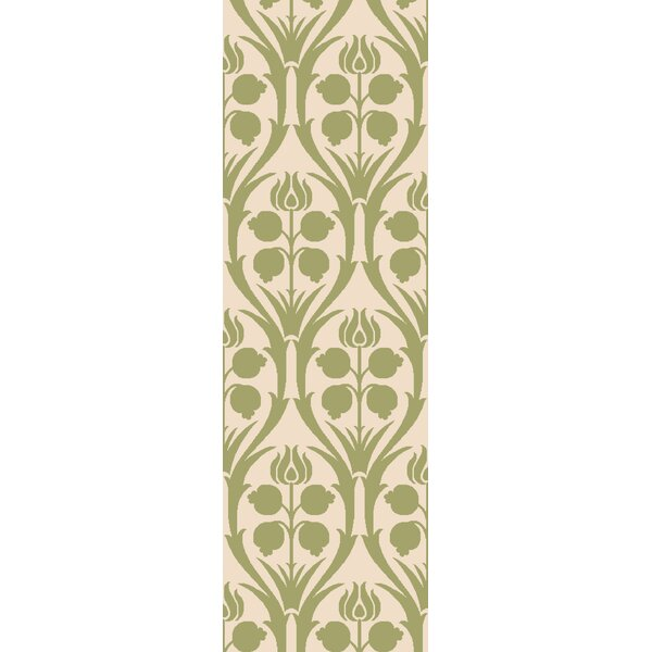 Baconton Green/Beige Area Rug by Bungalow Rose