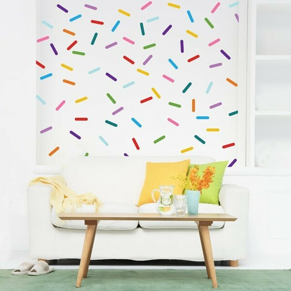 Rainbow Confetti Sprinkle Wall Decal by Urban Walls