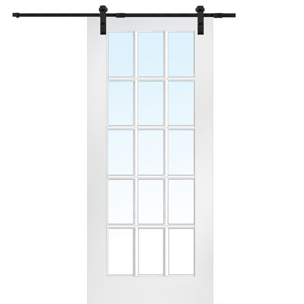 MDF Glass Interior Barn Door by Verona Home Design
