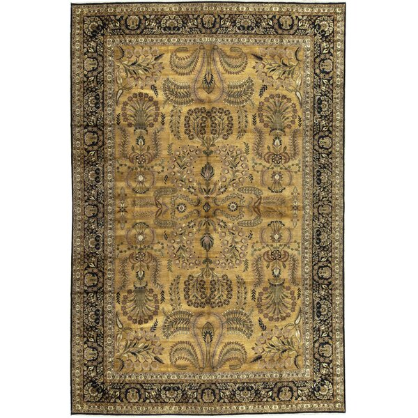 One-of-a-Kind Hand-Knotted Beige 11'10 x 17'8 Wool Area Rug