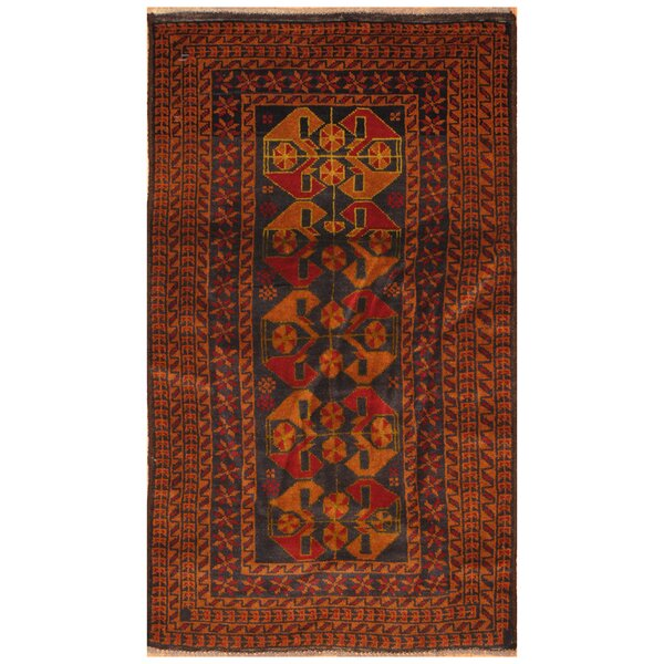 One-of-a-Kind Prentice Hand-Knotted Wool Navy/Tan Area Rug by Isabelline