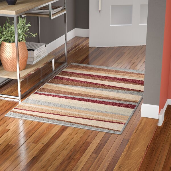 Servare Stripe Power Loom Indoor Area Rug by Ebern Designs