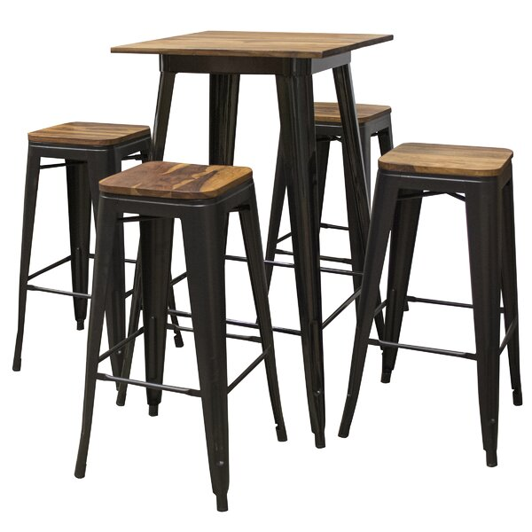 Rodrigues 5 Piece Pub Table Set by Williston Forge