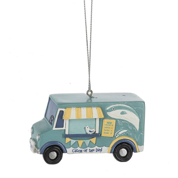 Catch of the Day Food Truck Hanging Figurine by Hi
