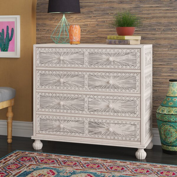 Stevens Traditional Hand Painted 4 Drawer Accent Chest by Mistana