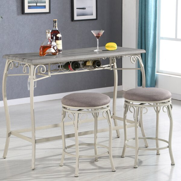 Portal 3 Piece Counter Height Dining Set by Ophelia & Co.