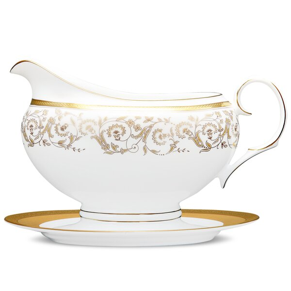 Summit 2 Piece Bone China Gravy Boat Set by Noritake