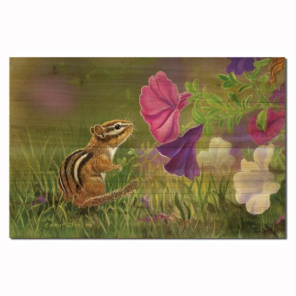 Chipmunk in the Garden by Carol Decker Painting Print Plaque by WGI-GALLERY