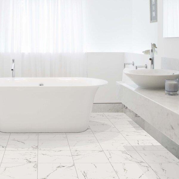 Lively Calacatta 10 x 10 Porcelain Stone Look Wall & Floor Tile