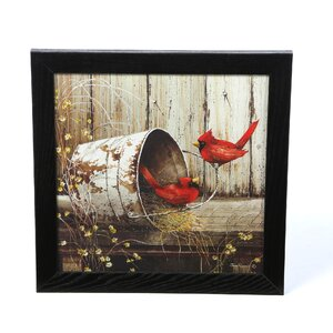 'Cardinals' Framed Photo Graphic Print on Paper by August Grove