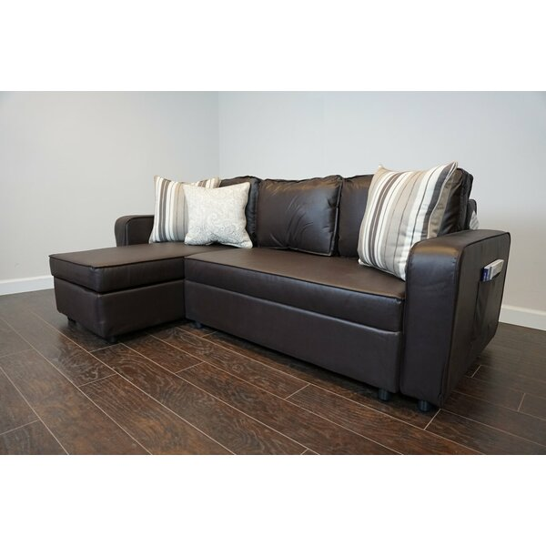 Valuable Price Piccirillo Reversible Sleeper  Sectional by Ebern Designs by Ebern Designs