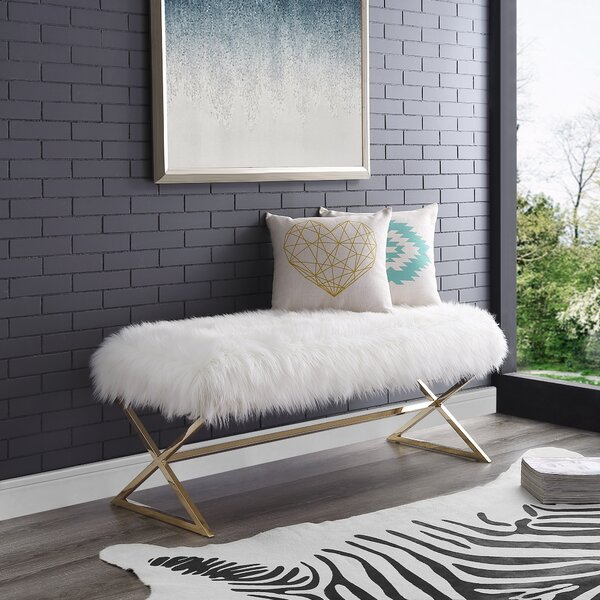 Evonne X-Leg Upholstered Bench by Mercer41 Mercer41