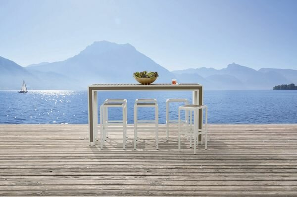 Dani Outdoor Bar Dining Set by Highland Dunes