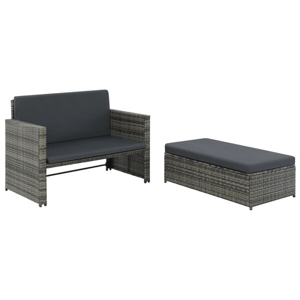 Whittlesey Garden 2 Piece Sofa Seating Group with Cushions by Ivy Bronx