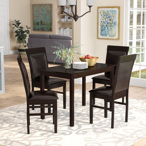 Kisor Modern and Contemporary 5 Piece Breakfast Nook Dining Set by Red Barrel Studio