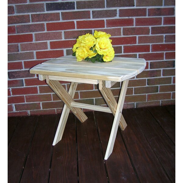 Anika Folding Wooden Side Table in 24 inch  H x 18 inch  W x 16 inch  D by Millwood Pines