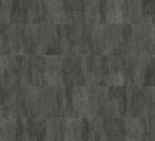 HydroCork Stone 12 Cork Flooring in Dark Beton by Wicanders
