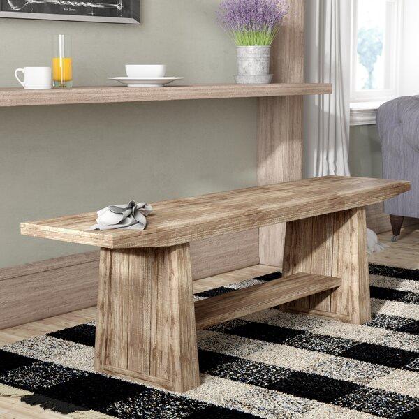 Pauli Wood Bench by Laurel Foundry Modern Farmhouse