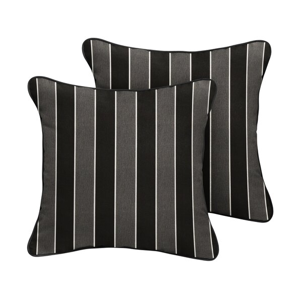 Cox Sunbrella Peyton Granite Outdoor Throw Pillow (Set of 2) by Red Barrel Studio