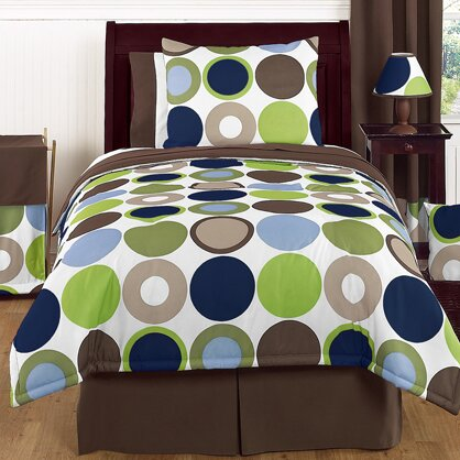 Designer Dot 3 Piece Comforter Set by Sweet Jojo Designs