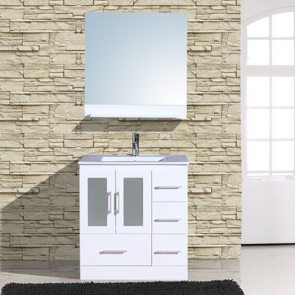 Alva 30  Single Bathroom Vanity with Mirror by Adornus