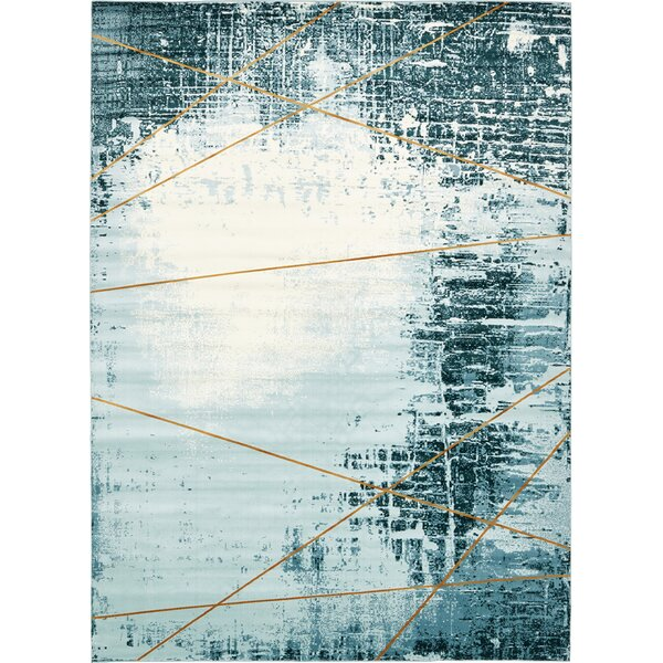 Brayden Dark Blue Area Rug by Mercury Row