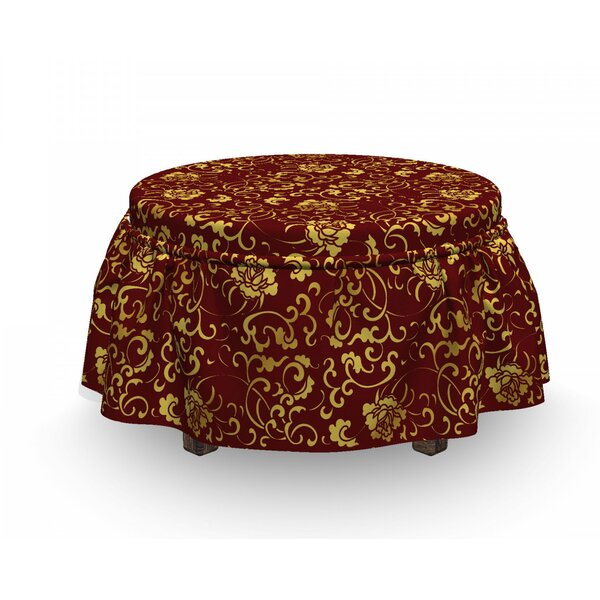 Antique Oriental Ottoman Slipcover (Set Of 2) By East Urban Home
