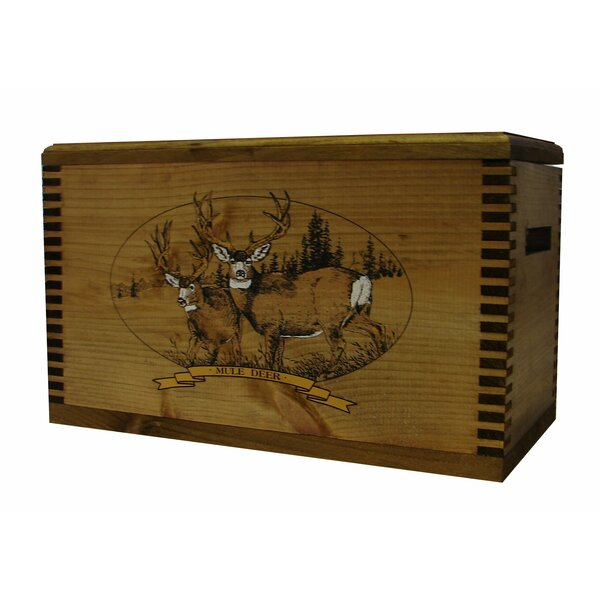 Wooden Accessory Box With Wildlife Series Mule Deer Print by Evans Sports