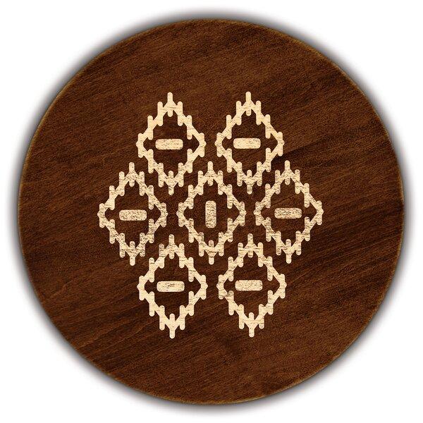Artisan Woods Modern Batik Round Serving Platter by Martins Homewares