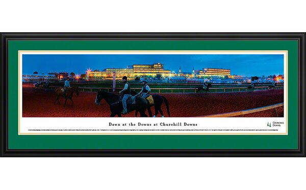 Dawn at Churchill Downs Deluxe Framed Photographic Print by Blakeway Worldwide Panoramas, Inc