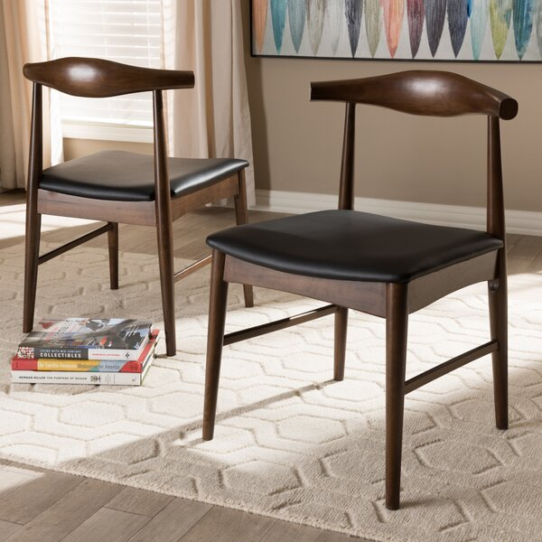 Baez Upholstered Dining Chair (Set of 2) by George Oliver George Oliver